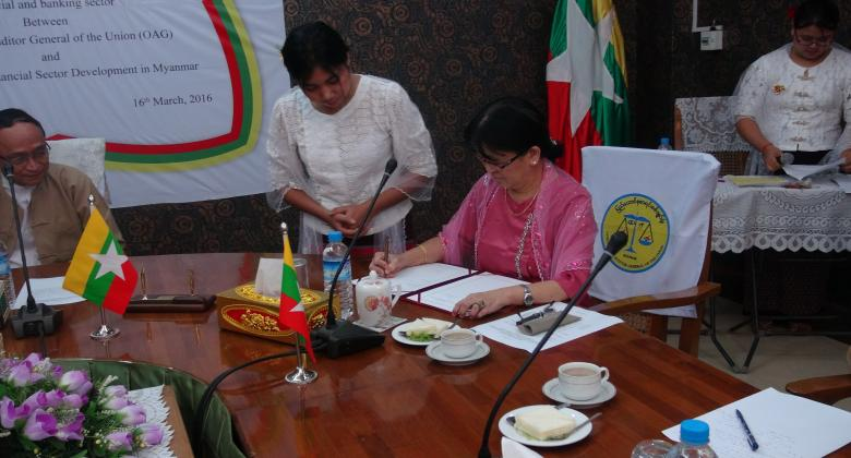 Signing Ceremony of MOU between Office of the Auditor General of the